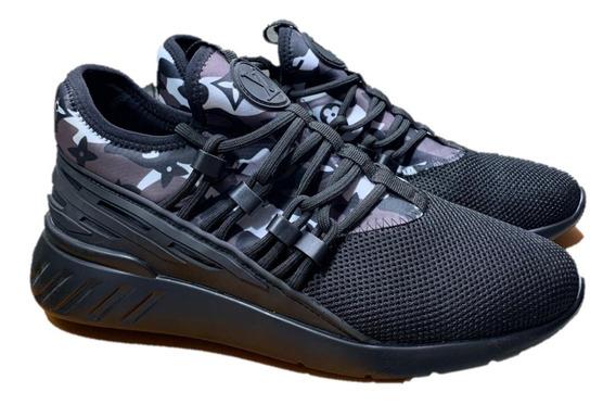 Tenis Sneakers Louis Vuitton Black Camuflaje, Envío Gratis