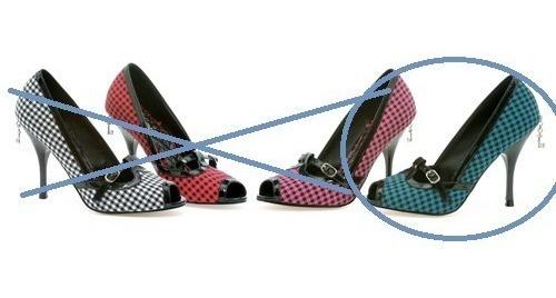Zapatos Importados-tela Y Charol-unico Par 37,5 Azul/negro