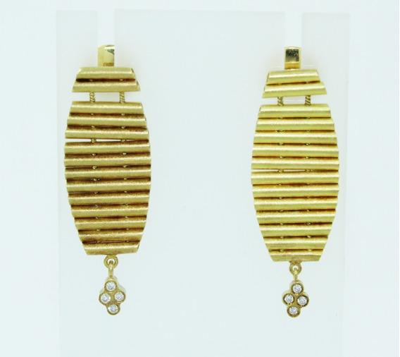 Pocao2005 Brinco Ouro 18k Diamante Vivara 12x S/j Ft/gt B841
