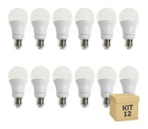 Lampada Led Bulbo 12w Branca - Kit C/12 Lampadas