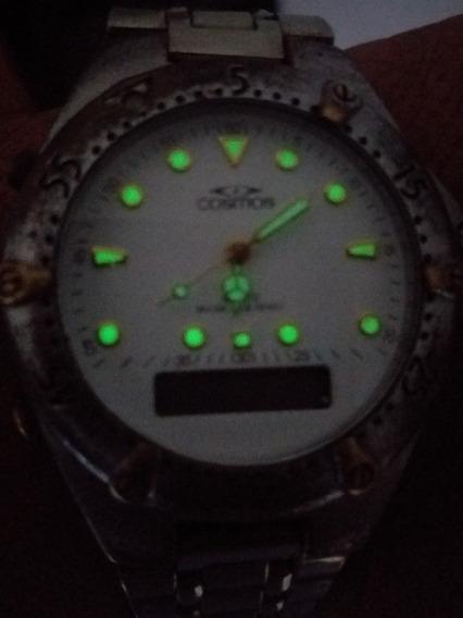 Relógio Anadigi Cosmos Lindo Os18010 S Bateria P Restaurador