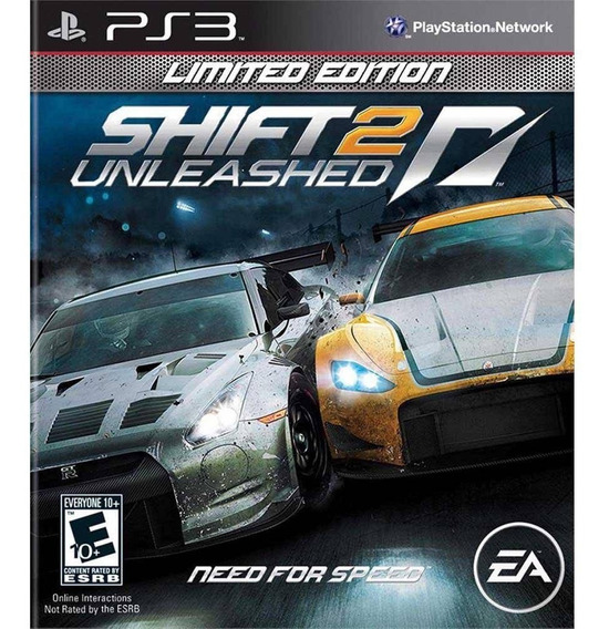 Need For Speed Shift 2 Limited Unleashed Mídia Física Ps3