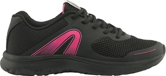 Tenis Feminino Rainha Clip Preto / Rosa