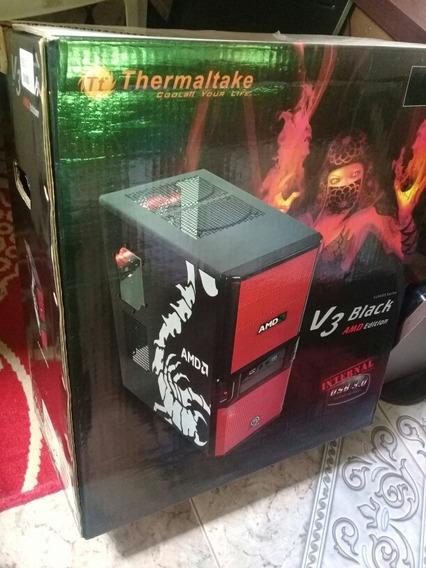 Gabinete Gamer Thermaltake V3 Black Amd Edition