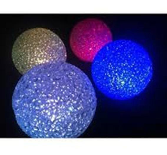 Esfera Vela Led Ideal Centro De Mesa Cotillon Luminoso 8cm