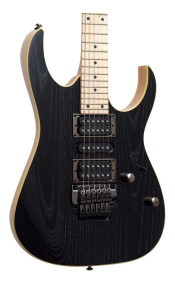 Guitarra Ibanez Rg370 Ahmz Silver Wave Black