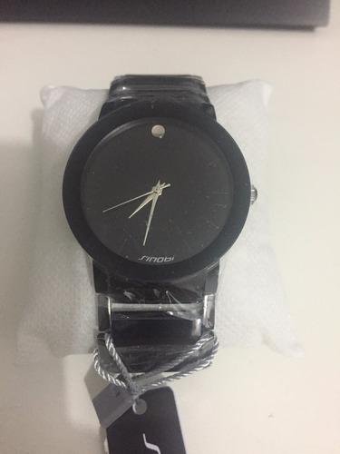 Relógio Sinobi Masculino - Pulseira Preta