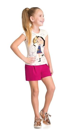 Roupa Infantil-menina-conj. Blusinha E Shorts Show Da Luna