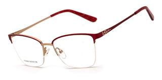 Armação Oculos Ogrife Og 1807-c Feminino Com Lente Sem Grau