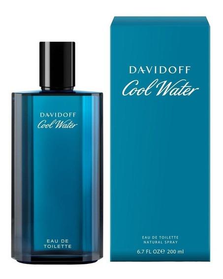 Perfume Cool Water Davidoff Masculino Edt 200 Ml Original