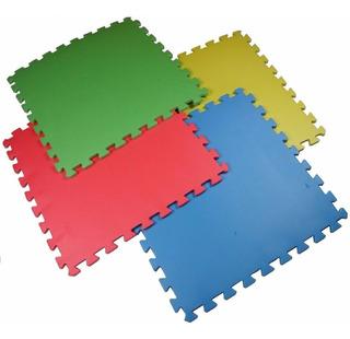 16 Tapetes De Foamy 60x60cm 4 Colores Gym Niños Bebe Yoga