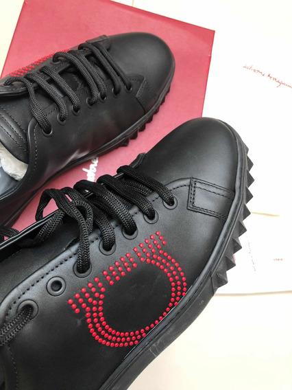 Sneakers Zapatos Tenis Salvatore Ferragamo De Piel 8 Mex