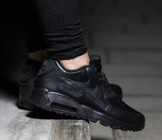 Nike Air Max 90 Triple Black 7.5us 37.5/24.5cm Force
