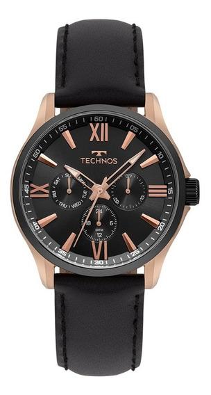 Relógio Technos Masculino Executive 6p29ajw/8p Rose Couro