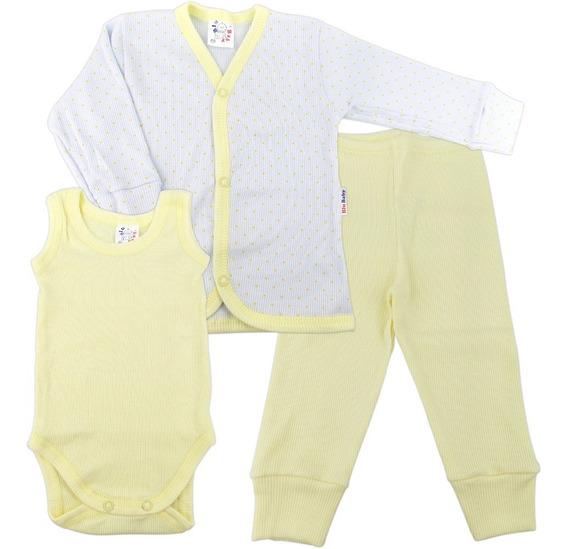 Roupa De Bebê Conjunto Pagão 3 Peças Casaco Body E Calça