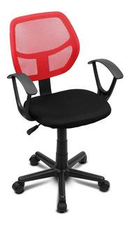 Silla Secretarial Operativa Giratoria Respaldo Malla Oficina Para Escritorio Colores