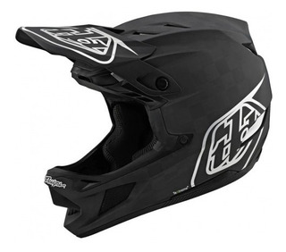 Casco Troy Lee Designs D4 Carbon Helmet Stealth Black/silver