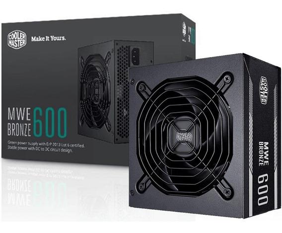 Fonte Cooler Master Mwe 600w 80plus Bronze Mpx-6001-acaab-wo