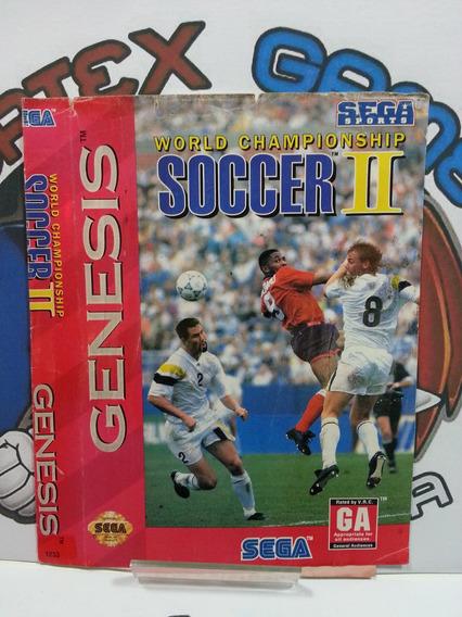 Sega Mega Drive Encarte Capa Jogo Original Soccer 2