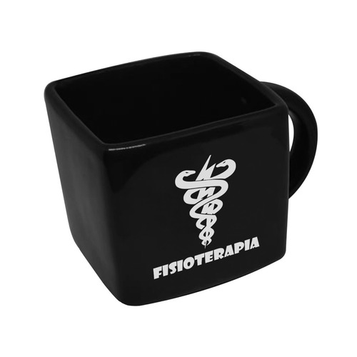 Caneca Cubo Quadrada Profissao Fisioterapia 200ml