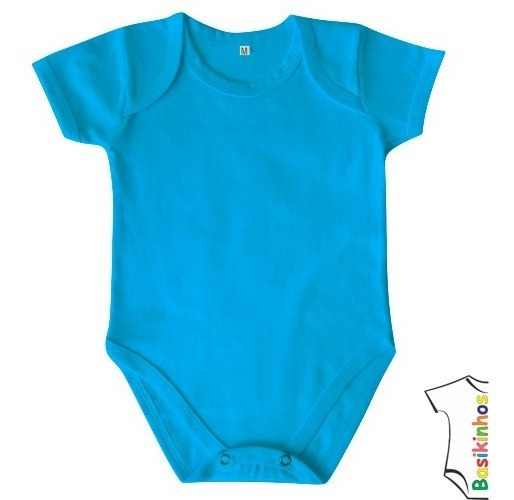 Body Bebê Curta- 100% Algodão -18 Cores- Rn Ao Ggbasikinhos
