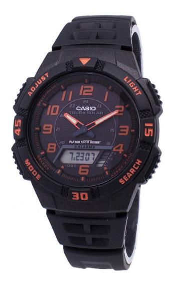 Relogio Casio Solar Aq-s800 World Time 100% Novo E Original!