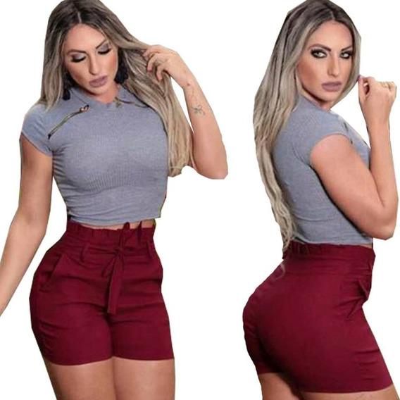 Shorts Bengaline Femenino- Plus Size