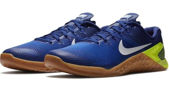 Zapatillas Nike Metcom 4 Crossfit Profesional Azul