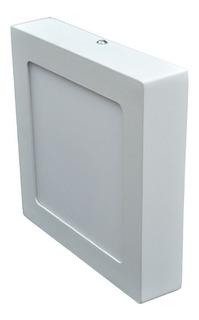 Plafon Led Spot Cuadrado Aplicar 12w Luz Cálida / Fría