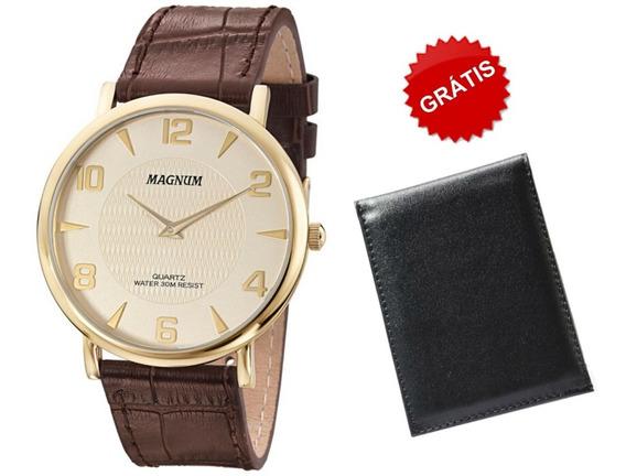 Relógio Masculino Magnum Dourado Original