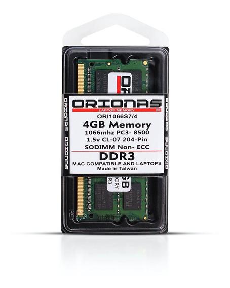 Memoria 4gb 1066 Mhz Pc3-8500 Sodimm Notebook Mac Book