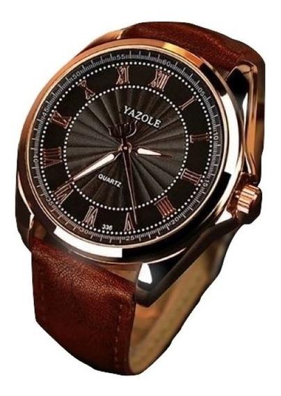 Reloj Para Hombre Elegante Acero Vidrio Fondo Negro