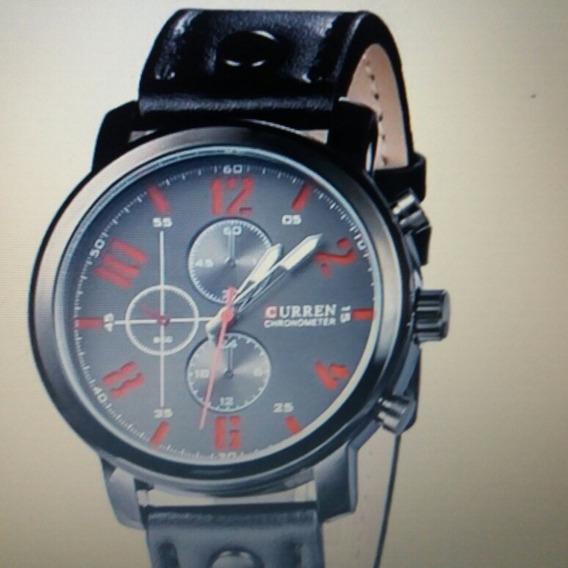 Relógio Curren, Couro Legitimo, Prova D