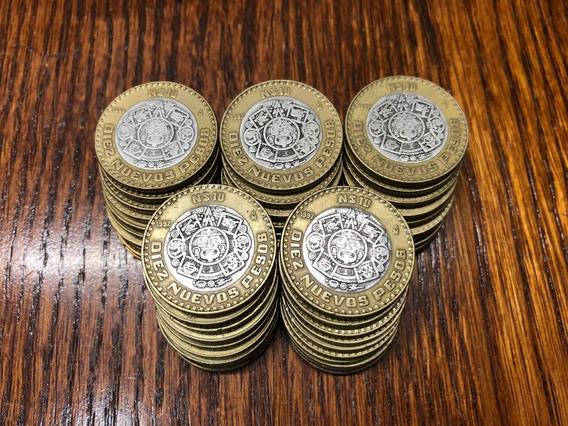 10 Monedas N$10 Para Colección O Inversión, 10 Nuevos Pesos