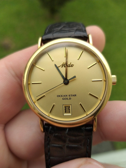 Relógio Mido Ocean Star Gold Original