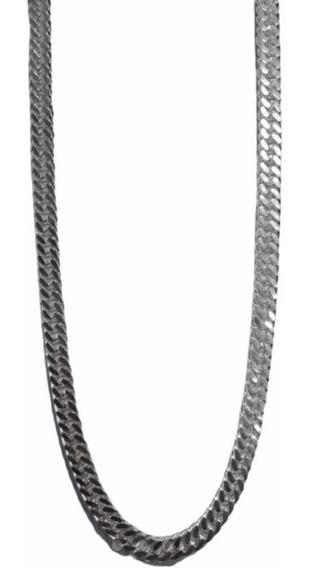 Corrente Cordão Grumet Duplo Masculina 8mm Prata 925
