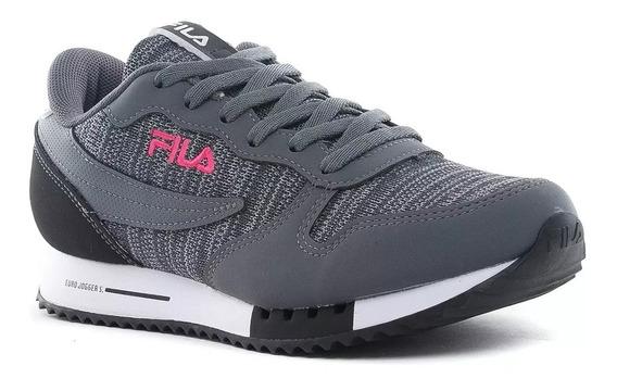 Fila Zapatillas Lifestyle Mujer Euro Jogger Sport Gris-rosa