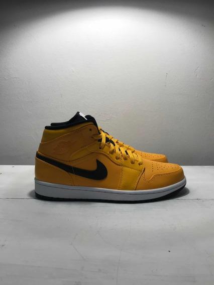 Sneakers Originales Jordan 1 Mid University Gold Black White