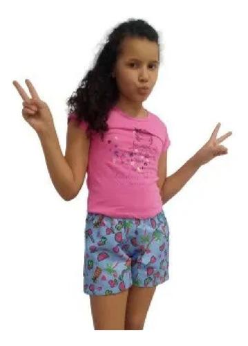 Kit Lote 6 Conjunto Infantil Feminino Juvenil Roupa Menina