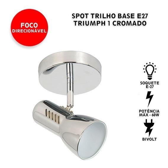 Luminária Spot Base Trilho Triumph 1 Direcionável E27 Oferta