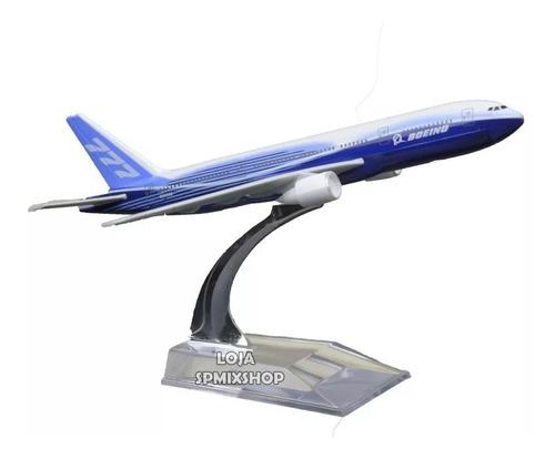 Miniatura Avião Metal Boeing 777 Com Base Acrílico