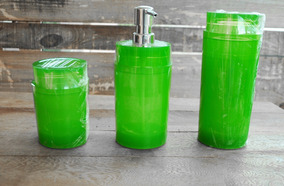 Kit Riviera Liso Verde Translúcido.