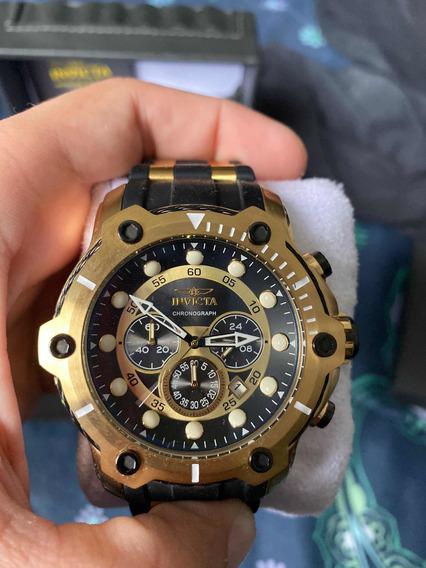 Relógio Invicta Chronograph Dourado Original