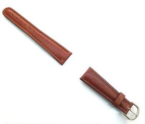 Pulseira Para Relógio Em Couro Marrom 20mm Masculina B0582
