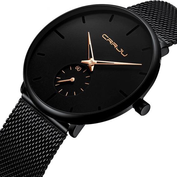 Relógio Masculino Luxo Esportivo Casual Crrju A Prova D