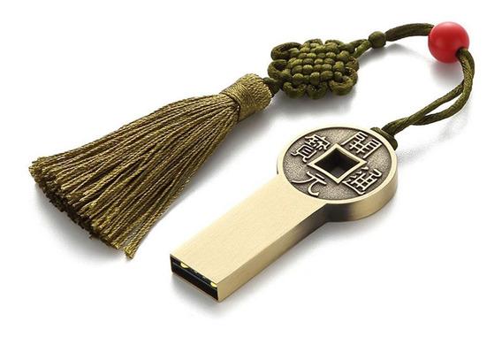 Tamanho Chinês Moeda Antiga Flash Memory Stick U Ddisk Chave