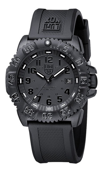 Relogio Luminox 3051 Blackout Evo Navy Seal Swiss Dive