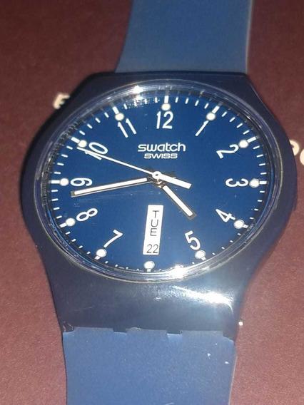 Relógio Swath Azul , Especial ,surs100 Mostrador Lindo