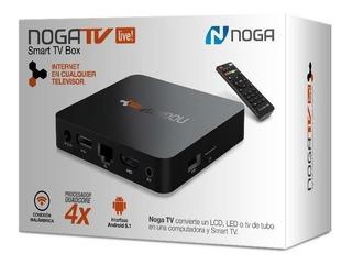 Smart Tv Box Android Noga Pc Live Wifi Netflix Convertidor E