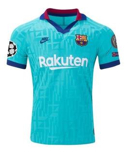 Camisa Barcelona 2019-2020 Patch Champions League Original